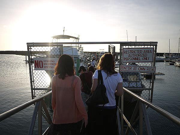 是旅行的重頭戲之一  郵輪賞夕陽  ^^