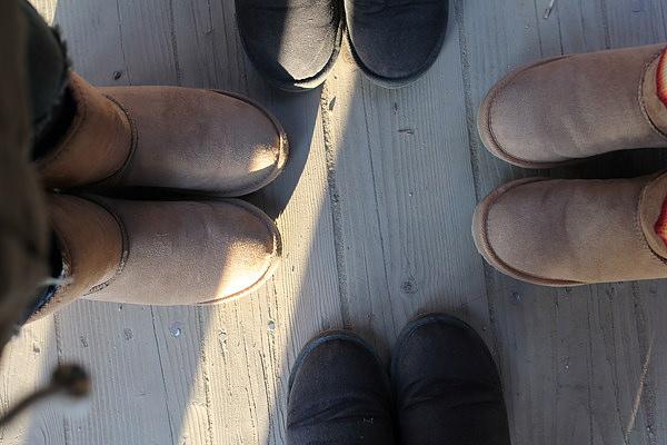 今天我們4人都穿雪靴呢!!