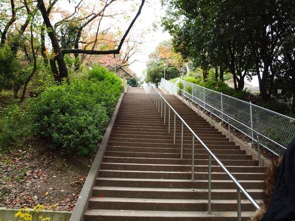 天呀~到大阪城前還要走這長長長長長的樓梯 >~>